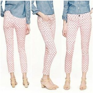 J crew cropped matchstick printed skinny jeans 27